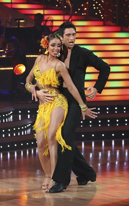 Mya and Dmitry Chaplin perform on &quot;Dancing with the Stars.&quot; 