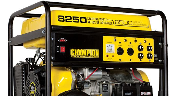 This undated photo provided by the U.S. Consumer Product Safety Commission shows one of the Champion Power Equipment portable generator models being recalled by the company, due to a fire hazard caused by a fuel can leak from the generator's carburetor. The models affected were sold at Costco Wholesale stores nationwide from December 2011 through July 2012. Consumers should stop using the recalled generators immediately and contact Champion Power Equipment for a free repair kit to be installed by an authorized dealer. The consumer may also return the unit to Costco for a full refund. (AP Photo/U.S. Consumer Product Safety Commission)