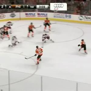 Mike Smith Save on Claude Giroux (16:51/1st)