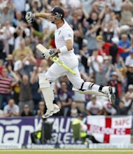 "Kevin Pietersen celebrates after reaching 100 runs not out against South Africa at Headingley, on August 4. South Africa-born Pietersen, in an England and Wales Cricket Board (ECB) statement, admitted: ""I did send what you might call provocative texts to my close friends in the SA team"