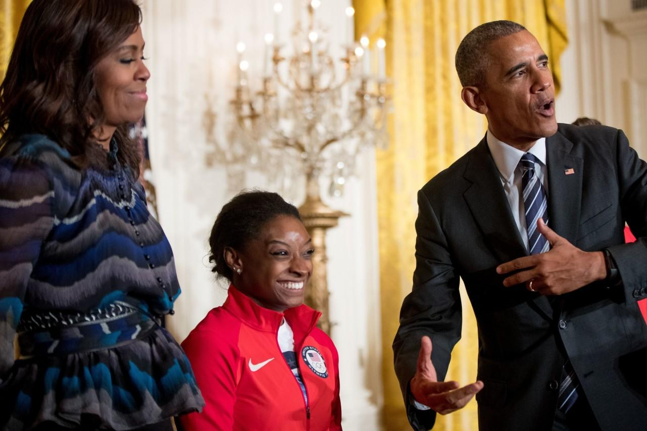 President Obama welcomes Team USA Olympians to the White House