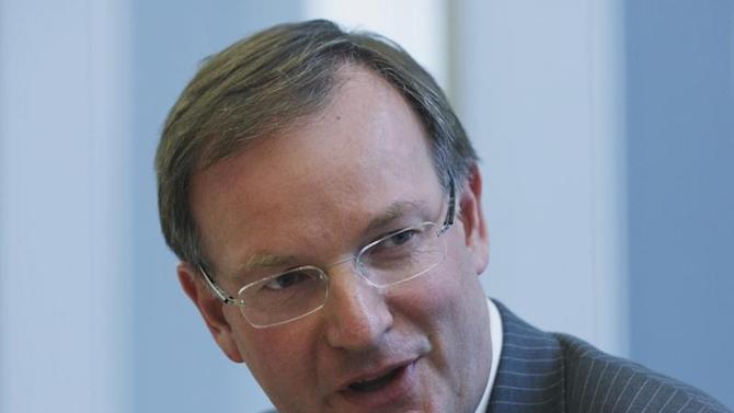 David Goulden of EMC Corp speaks during the Reuters Global Technology, Media and Telecom Summit in New York City