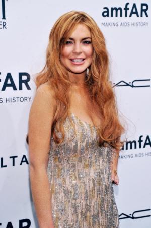 Lindsay Lohan seen at the amfAR New York Gala to kick off Fall 2013 Fashion Week at Cipriani Wall Street in New York City on February 6, 2013  --