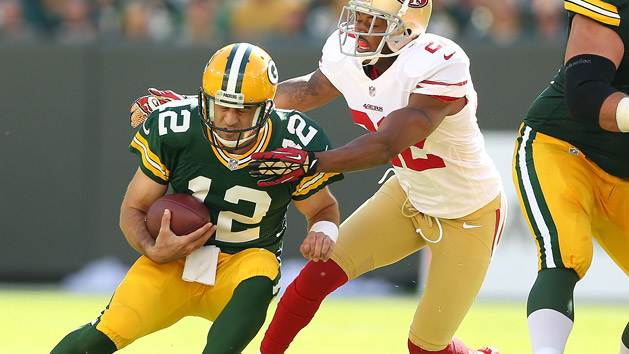 Aaron Rodgers and Carlos Rogers