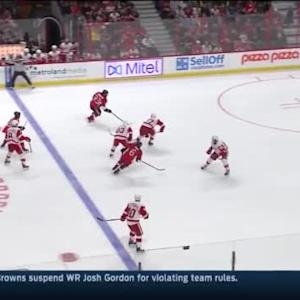 Jimmy Howard Save on Mika Zibanejad (11:15/1st)