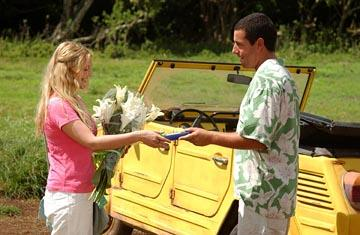 Drew Barrymore and Adam Sandler in Columbia's 50 First Dates