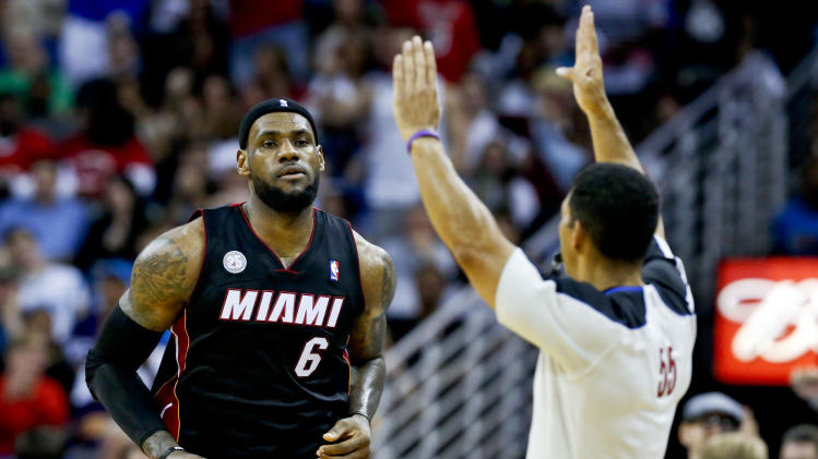 NBA: Miami Heat at New Orleans Hornets