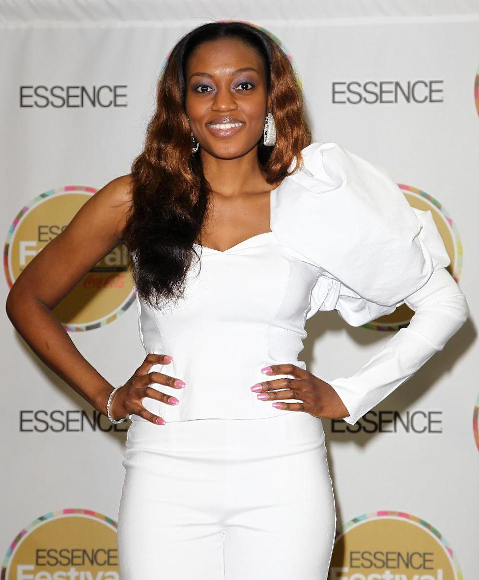 Greta Prince visits the pressroom on Day 2 of the 2013 Essence Music Festival at the Mercedes-Benz Superdome on Saturday, July 6, 2013 in New Orleans. (Photo by Donald Traill/Invision/AP)