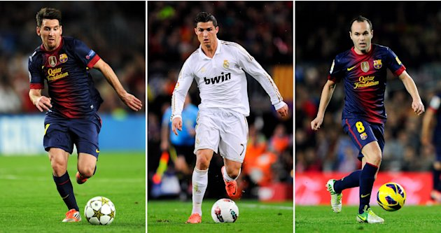 FILE: Lionel Messi, Cristiano Ronaldo And Andres Iniesta Shortlisted For FIFA Ballon d'Or 2012