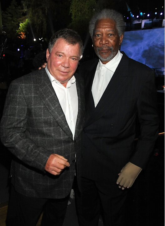 2009 Spike TV Scream Awards William Shatner Morgan Freeman