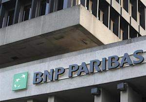 The logo of financial group BNP Paribas Fortis is seen outside the Belgian headquarters in Brussels