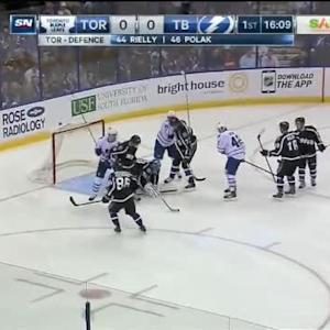 Ben Bishop Save on Stephane Robidas (03:50/1st)
