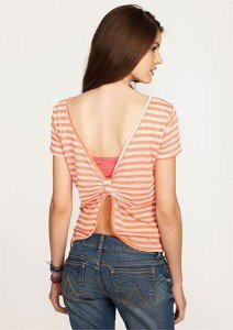 Nikki Short Sleeve Bow Back