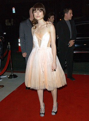 Keira Knightley at the Beverly Hills premiere of Focus Features' Atonement