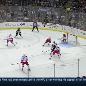 Cam Ward Save on Patric Hornqvist (01:49/1st)