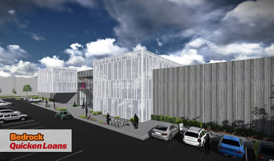 A rendering of the Detroit-based Quicken Loans Technology Center, scheduled to be completed in January 2015.
