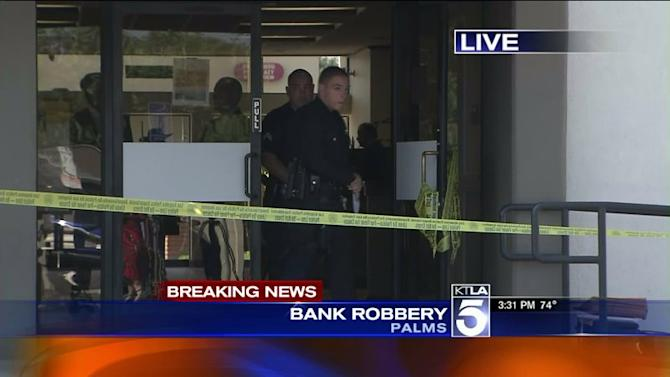 3 at Large After Bank Robbery in Mar Vista Area