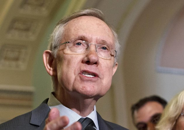 FILE - In this June 5, 2012 file photo, Senate Majority Leader Harry Reid, D-Nev. speaks on Capitol Hill in Washington. Republicans and Democrats in Congress who congratulated themselves for passing relatively routine legislation before July 4 are returning to the Capitol for a summer stocked with political show votes and no serious role for bipartisanship. Any thought of compromise on major issues _ taxes, spending, deficit control or immigration among them _ will have to wait until after the election or the new year. (AP Photo/J. Scott Applewhite, File)