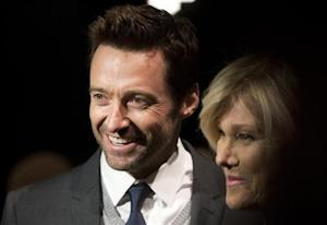 Actor Hugh Jackman and wife Deborra-Lee Furness arrive for the Donna Karan New York show during New York Fashion Week