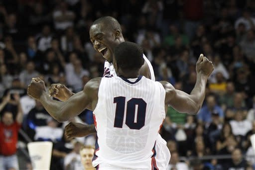 Pangos gets Gonzaga by BYU 77-58, into WCC final