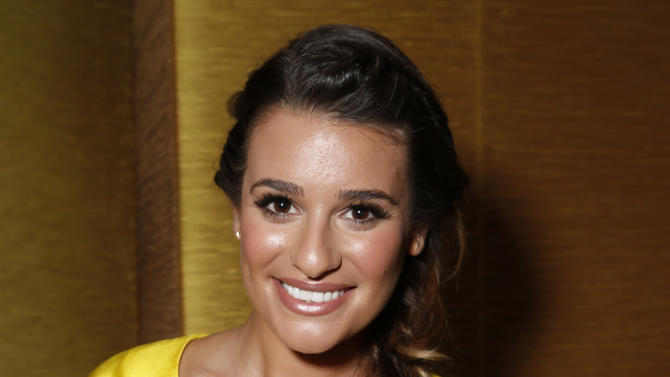 Lea Michele attends the Fox Winter TCA All Star Party at the Langham Huntington Hotel on Tuesday, Jan. 8, 2013, in Pasadena, Calif. (Photo by Todd Williamson/Invision/AP)