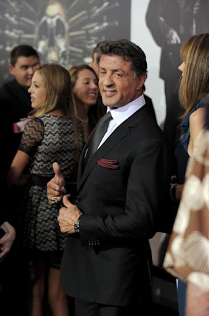 "Sylvester Stallone attends the premiere for ""The Expendables 2"" at Grauman's Chinese Theatre on Wednesday, Aug. 15, 2012 in Los Angeles. (Photo by Jordan Strauss/Invision/AP)"