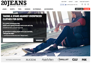 The Anatomy of an Online Purchase image 20Jeans landing page 620x428