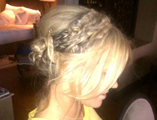 Bye Bye Dip-Dye! Caroline Flack Tweets Pic Of New Blonde Hair For The X Factor