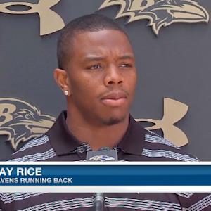 Baltimore Ravens running back Ray Rice apologizes