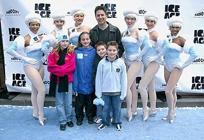 Ray Romano and brood with Rockettes at the Radio City Music Hall premiere of Ice Age