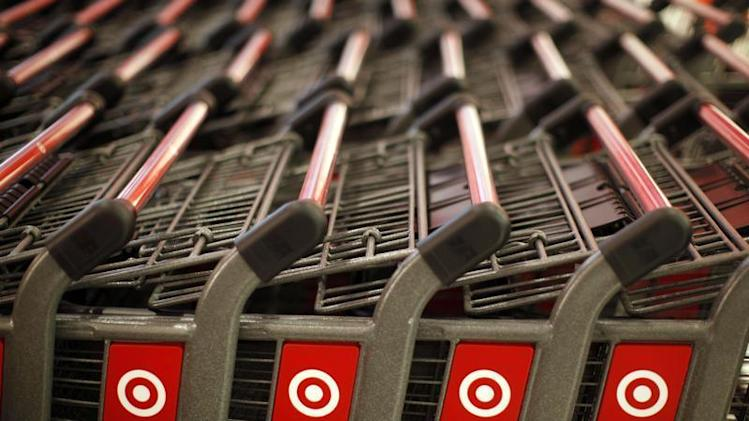 Shopping carts are seen in the new CityTarget store in downtown Chicago
