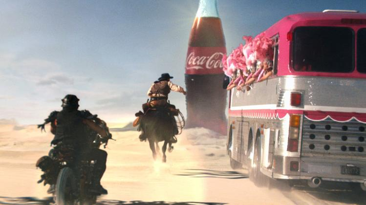 It's cowboys v. showgirls in Coke's Super Bowl ad