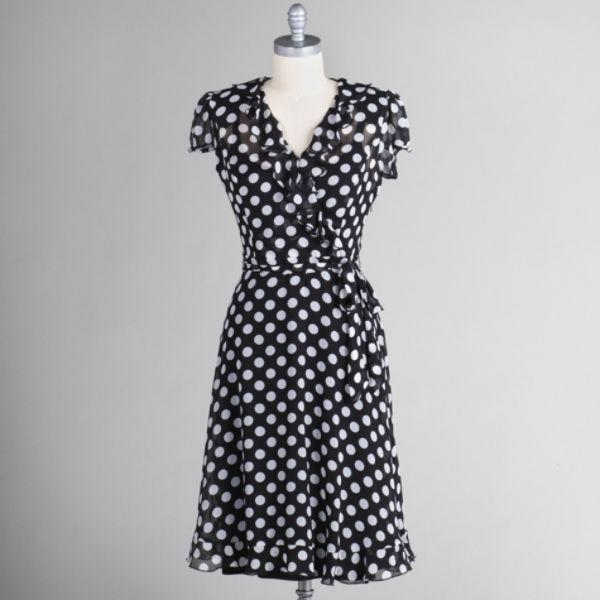 JBS Women's Dot Print Wrap Dress, $24.99