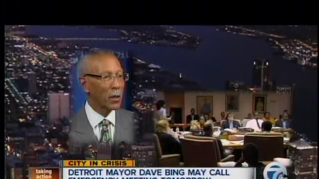 Mayor Calls Emergency Meeting