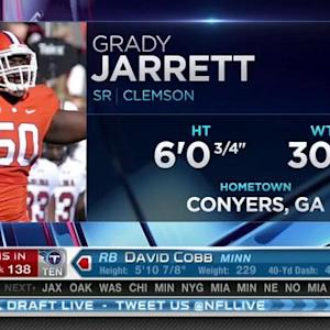 Atlanta Falcons pick defensive tackle Grady Jarrett No. 137 in 2015 NFL Draft