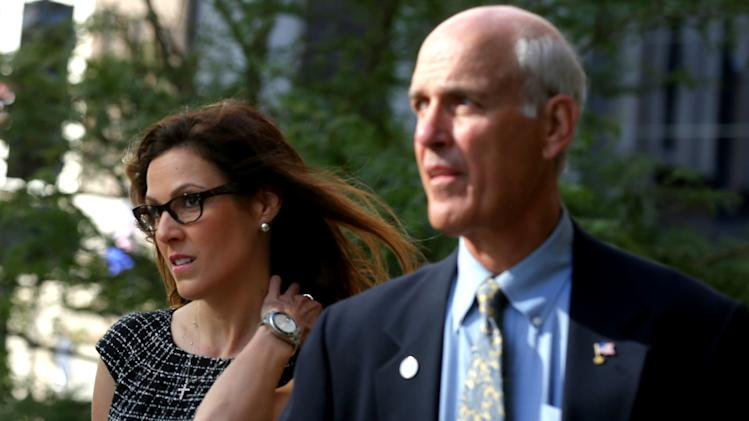 "Taya Kyle, widow of late Navy Seal and author Chris Kyle, arrives at court Tuesday, July 22, 2014 in St. Paul, Minn. Closing arguments are set for Tuesday in former Minnesota Gov. Jesse Ventura's defamation lawsuit against the estate of ""American Sniper"" author Chris Kyle. (AP Photo/The Star Tribune, Jim Gehrz) MANDATORY CREDIT; ST. PAUL PIONEER PRESS OUT; MAGS OUT; TWIN CITIES LOCAL TELEVISION OUT"