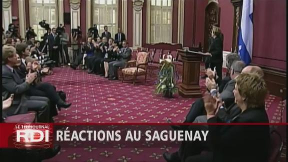 Quebec's Premier Pauline Marois was sworn-in at the National Assembly
