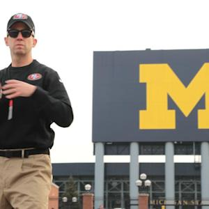 'Jim Harbaugh' Visits Michigan