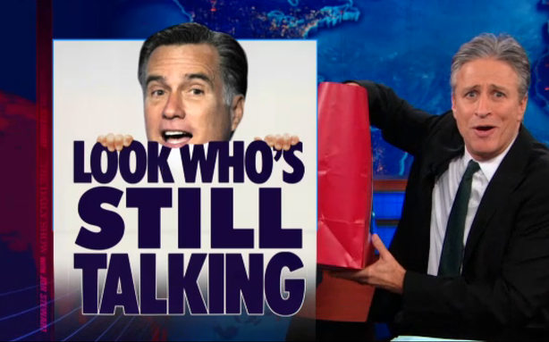 Mitt Romney Is Jon Stewart's Gift that Keeps on Giving