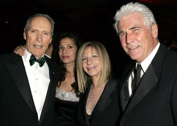 Clint Eastwood, Dina Eastwood, Barbra Streisand and James Brolin The 77th Annual Academy Awards - Governors Ball Hollywood, CA - 2/27/05