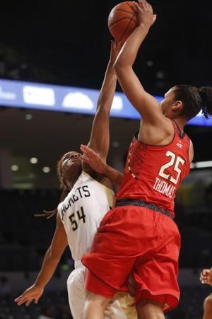 No. 10 Maryland women overpower Georgia Tech 66-57