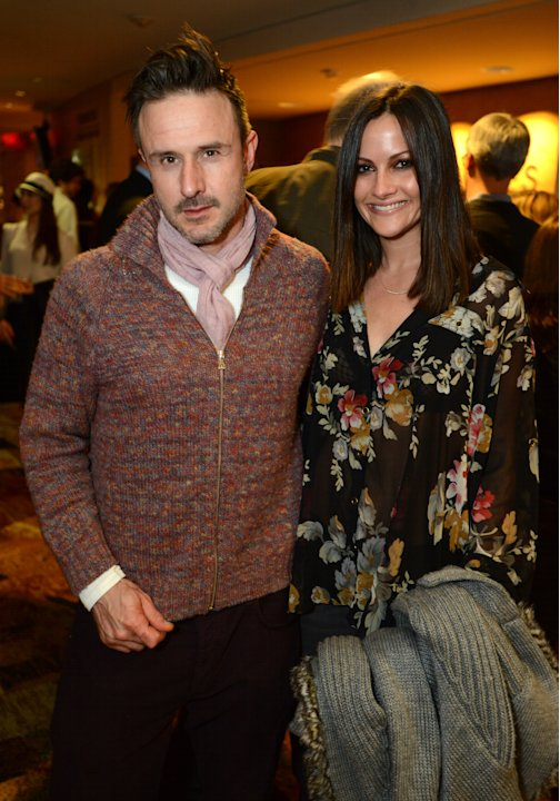 "David Arquette and Christina McLarty attend the opening night of ""The Gift"" at the Geffen Playhouse on Wednesday, Feb. 6, 2013 in Westwood, Calif. (Photo by Jordan Strauss/Invision/AP Images)"