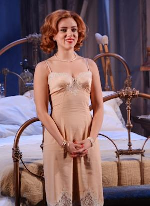 Scarlett Johansson attends the curtain call for the 'Cat On A Hot Tin Roof' opening night at Richard Rodgers Theatre on January 17, 2013 in New York City -- Getty Images