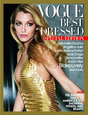 Blake Lively on the cover of Vogue's Best Dressed of 2010 issue -- Vogue