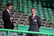 Heart director Sergejus Fedotovas, left, says the club will only be sold on &#39;to the right people at the right time&#39;