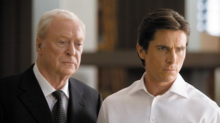The Dark Knight Production Stills 2008 Michael Caine Christian Bale