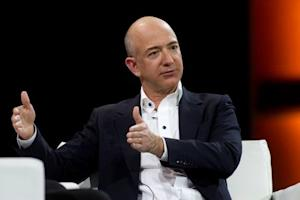 Amazon.com Chief Executive Officer Jeff Bezos speaks during a keynote speech at the Re:Invent conference in Las Vegas