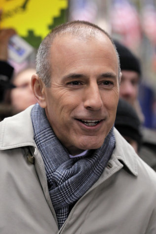 "FILE - In this Nov. 7, 2012 file photo, Matt Lauer, co-host of the NBC ""Today"" television show, appears during a segment of the show in New York's Rockefeller Center. The Daily Beast reported Monday, March 11, 2013 that Lauer was ready to take the fall last year for troubles on the morning show, but Steve Burke, the chief executive of NBC Universal, dismissed the idea. (AP Photo/Richard Drew, File)"