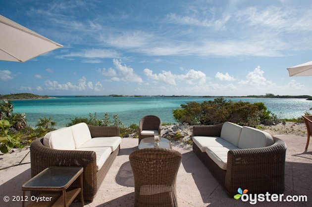 Patio at the Blue Moon Vill at Fowl Cay Resort -- Bahamas