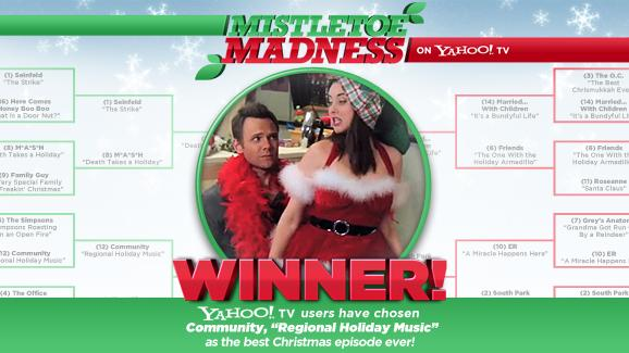 "Mistletoe Madness bracket - winner Community, ""Regional Holiday Music"""